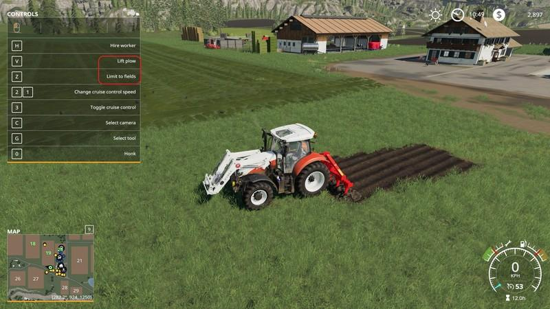 Мод плуг Kuhn DC401 with plow function v1.0 FS19