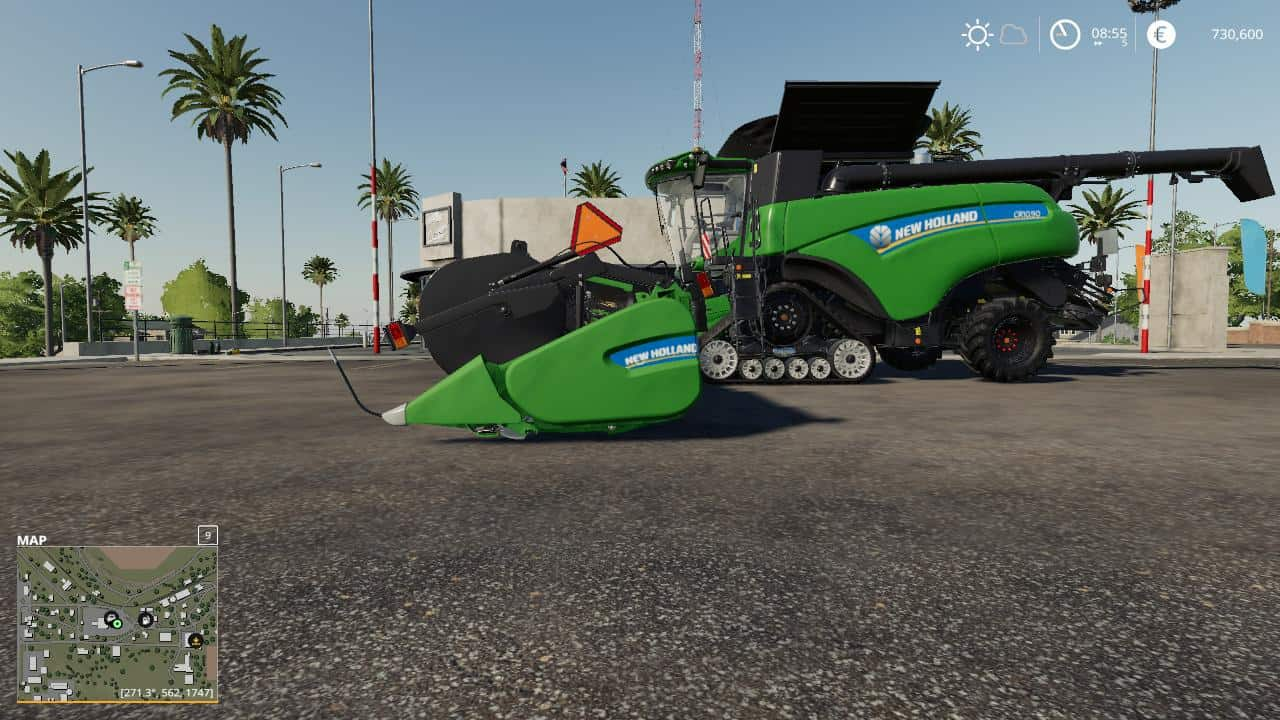 Мод комбайн NH cr1090 & superflex45ft pack with color choice v1.0 FS19