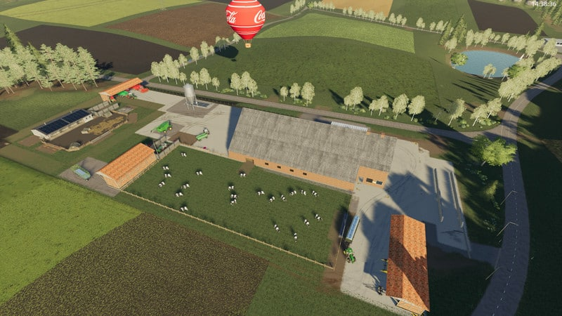 Мод Yard with cowshed and willow beta V 2.0 FS19