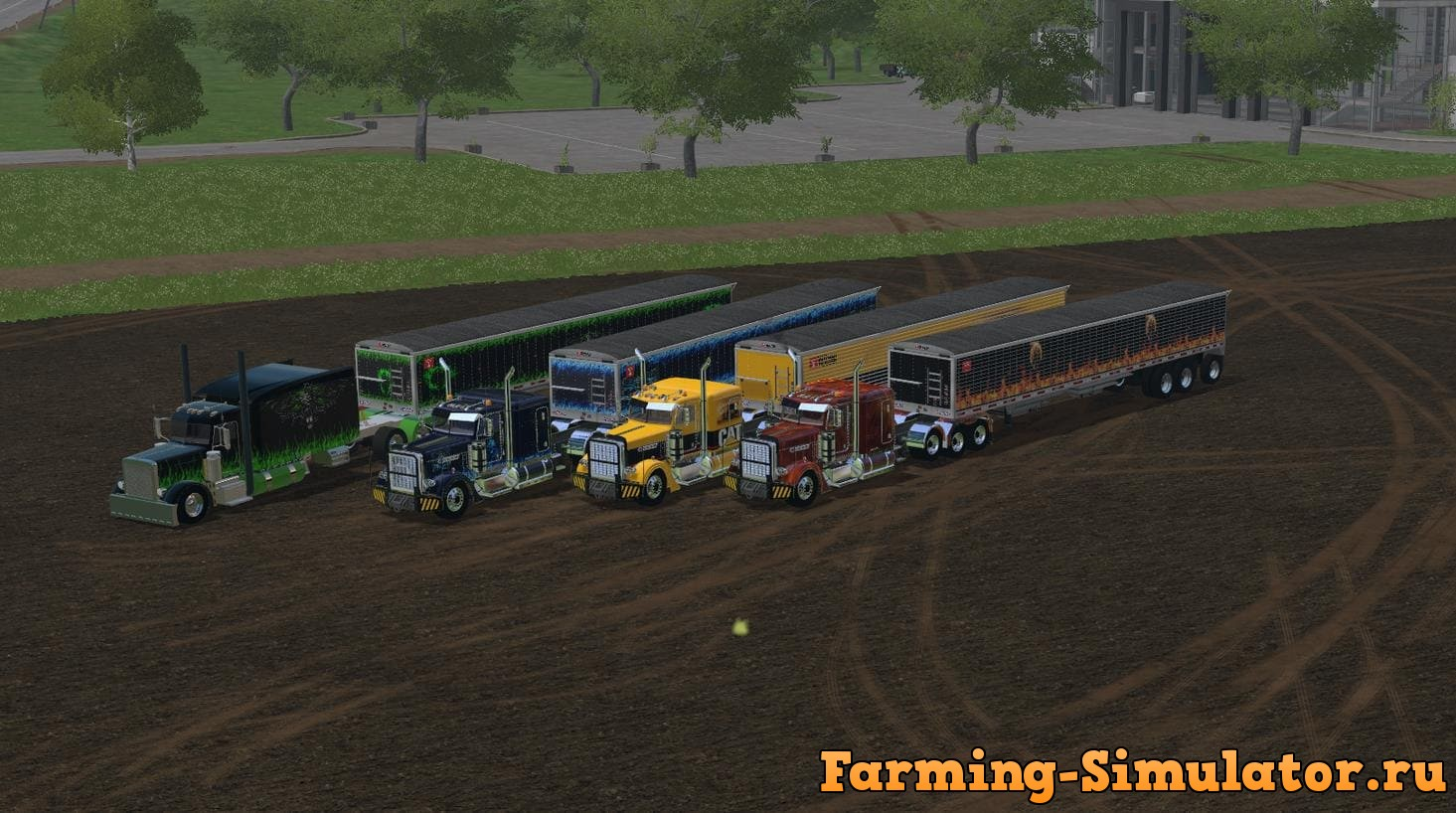 Мод ПАК TRUCKS & TIPPERS V 1.0 Farming Simulator 2017