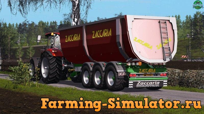 Мод прицеп ZACCARIA ZAM200 DP8SP V1.3.0.0 Farming Simulator 17