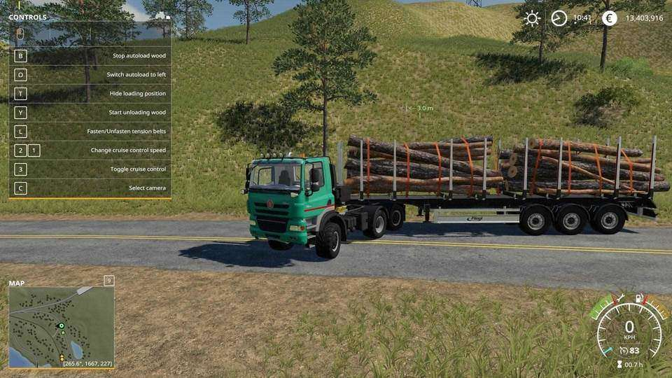 Мод FLIEGL TIMBER RUNNER WITH AUTOLOAD WOOD V1.0 FS19