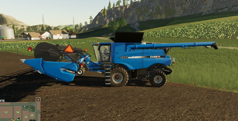 Мод комбайн Case IH 9240 Axial Flow V 1.0.0 Farming Simulator 19