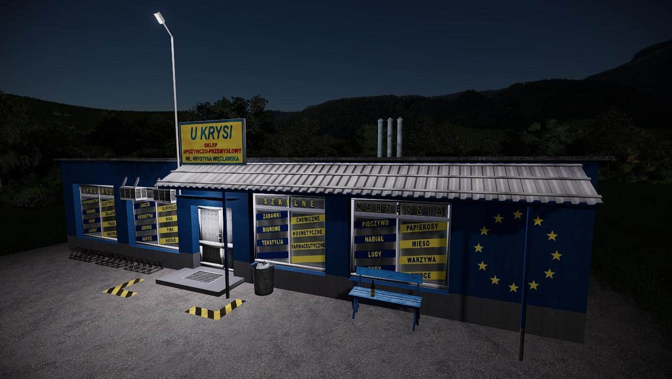 Мод магазин Grocery store v1.0.0.0 Farming Simulator 19