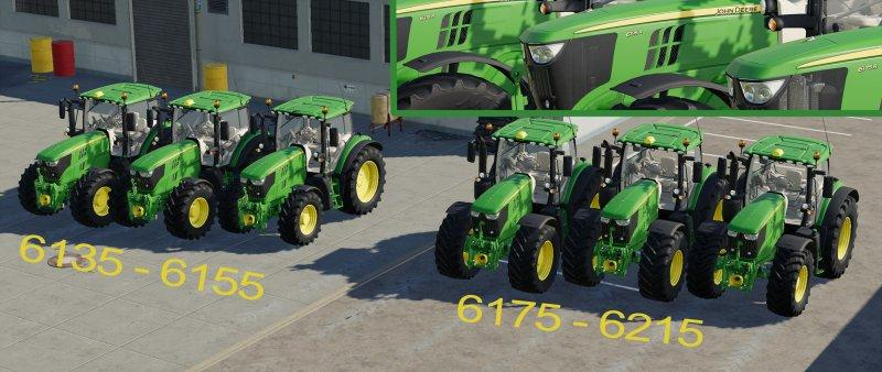 Мод трактор John Deere 6R series Pack v0.1 Farming Simulator 19