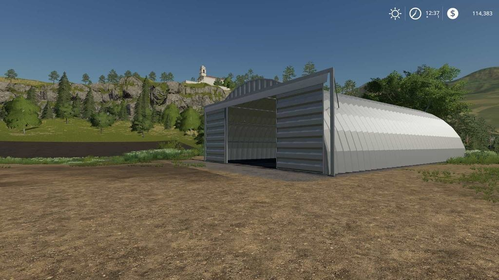 Мод навес Placeable Quonset shed Farming Simulator 2019