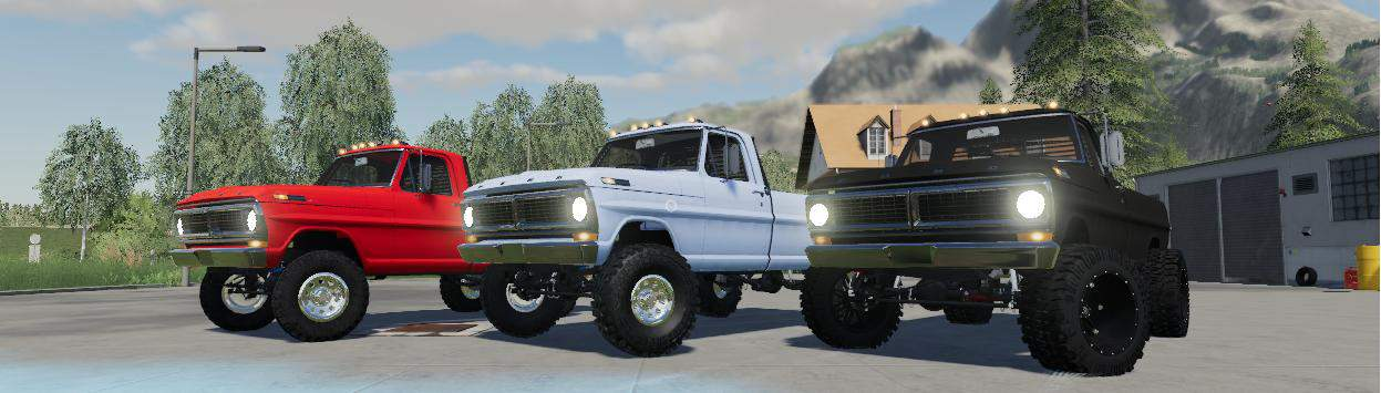 Мод авто 1970 Ford F250 v1.0 Farming Simulator 19