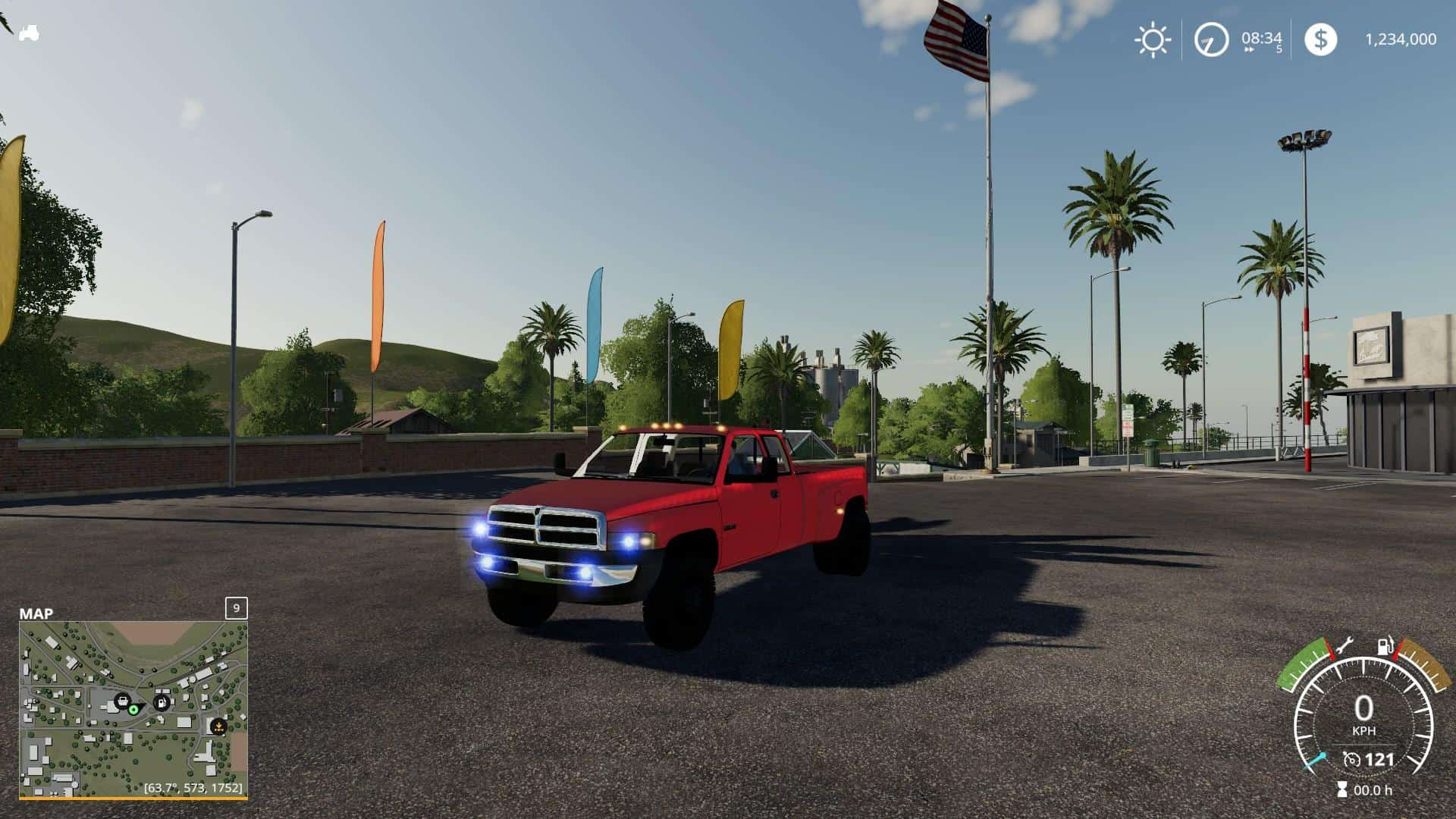 Мод авто 2nd gen Dodge Ram 3500 v1.0 Farming Simulator 19
