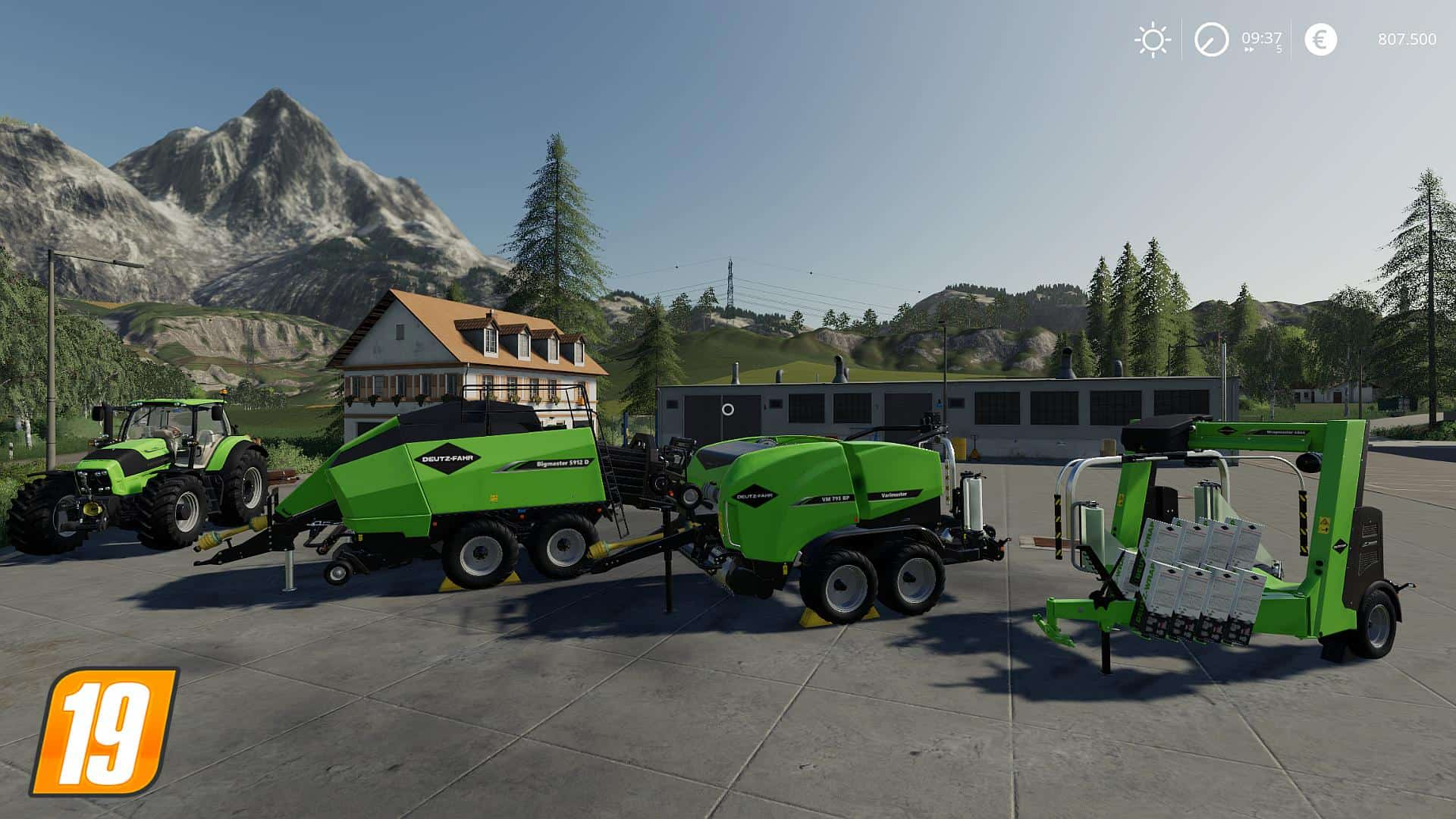 Мод ПАК Deutz-Fahr BaleMaster Set v1.0.0.0 Farming Simulator 19