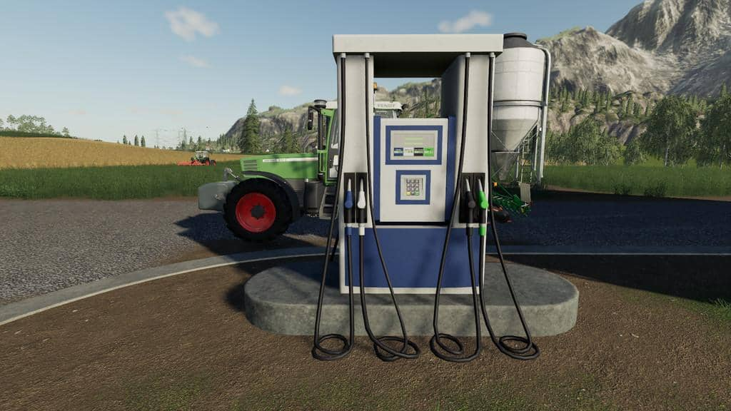 Мод заправка Gas Station v1.0.0.0 Farming Simulator 19