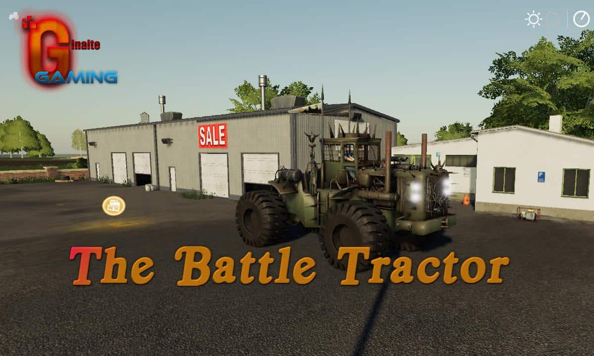 Мод трактор The Battle Tractor v1.0 Farming Simulator 19