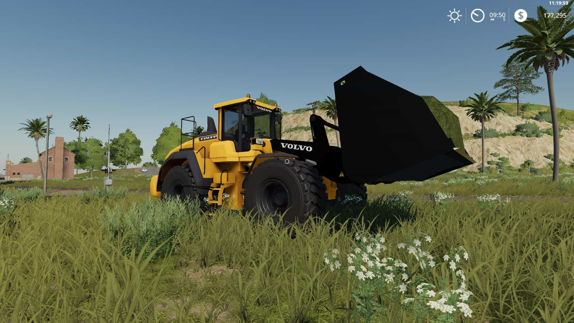 Мод погрузчик VOLVO L220H WITH BUCKET V1.0.0.0 FS19