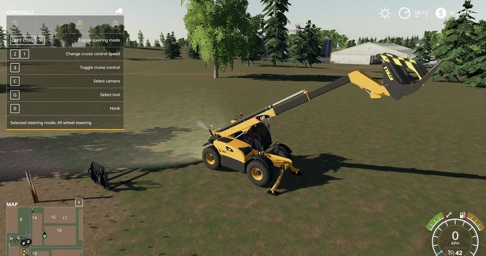 Мод погрузчик CAT TELEHANDLER V1.0.0.0 Farming Simulator 19