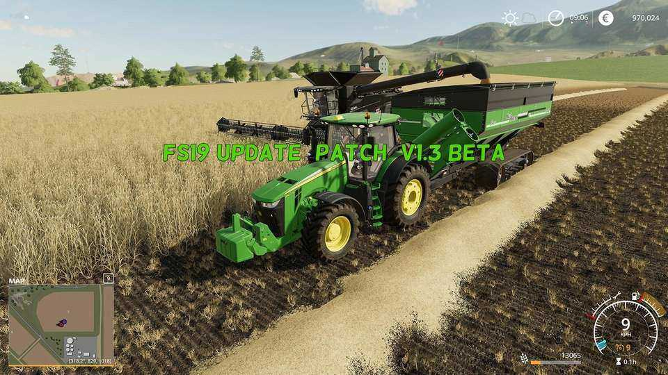 Патч UPDATE PATCH V1.3 BETA Farming Simulator 19