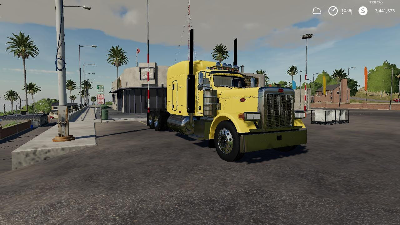 Мод тягач Peterbilt log truck v1.0 Farming Simulator 2019