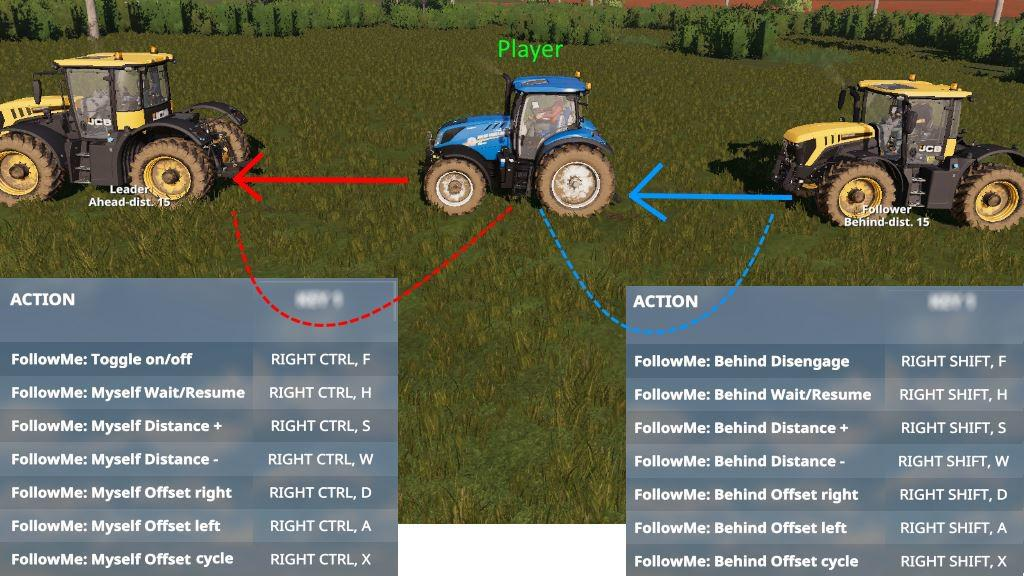 Мод скрипт FOLLOW ME V1.0.1.1 Farming Simulator 19