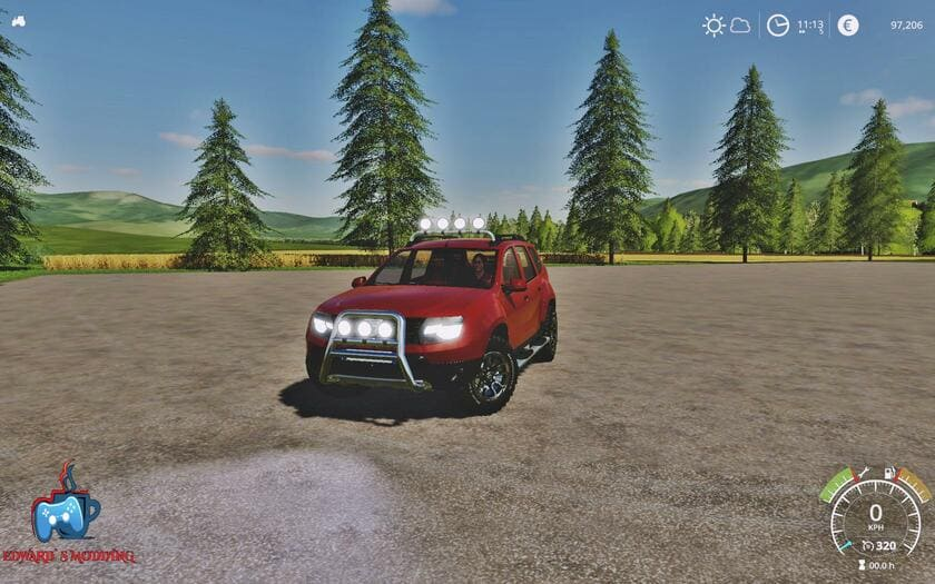 Мод авто Dacia Duster v1.0 Farming Simulator 2019