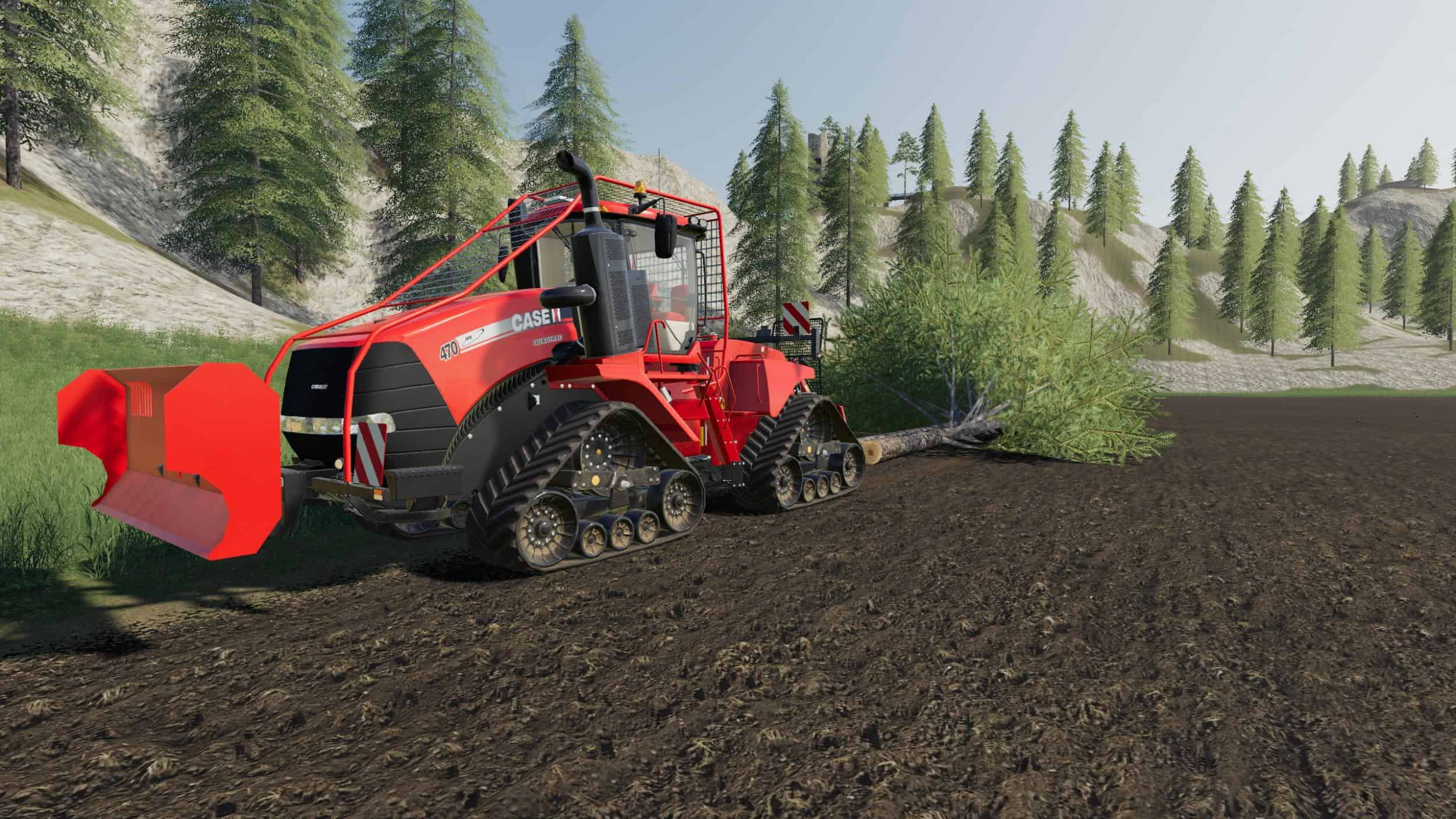 Мод трактор CASE Quadtrac logging series v1.0.0.0 FS19