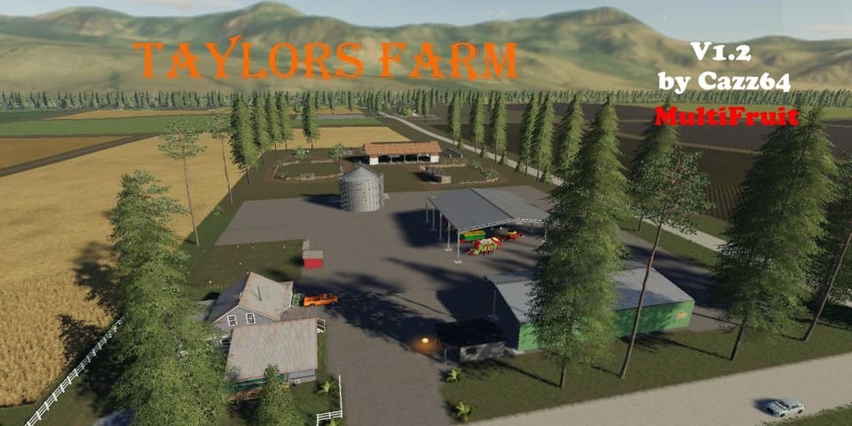 Мод карта TAYLORS FARM WITH 1.3 PATCH UPDATE V1.2 FS19
