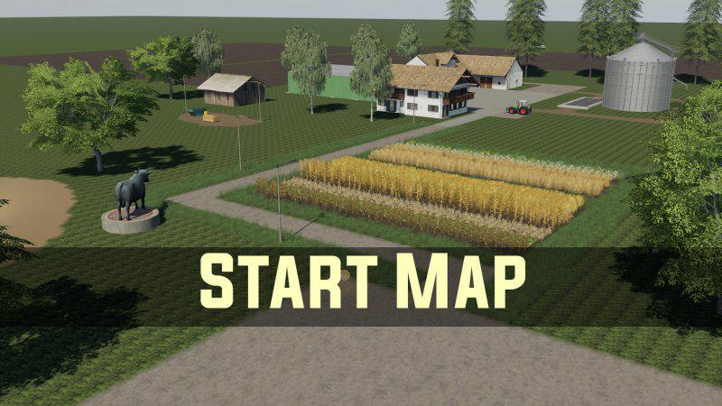 Мод карта EMPTY MAP START MAP V1.0.0.0 Farming Simulator 19