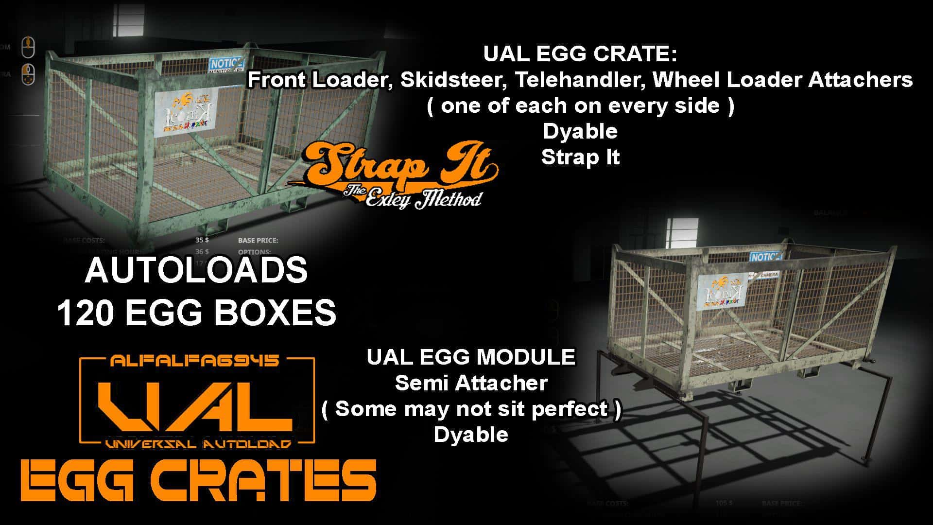 Мод Iconik UAL Egg Crates v1.0 Farming Simulator 19