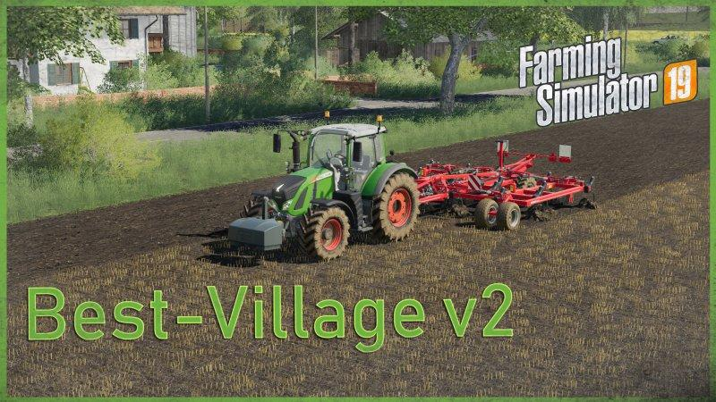 Мод карта NEW BEST VILLAGE MAP V2.0 FS19
