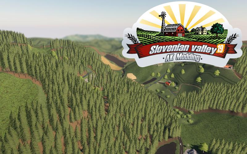 Мод карта SLOVENIAN VALLEY V1.1 Farming Simulator 19