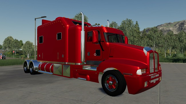 Мод тягач Kenworth T600 v0.0.0.1 Farming Simulator 19