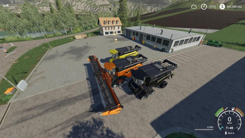 Moд ПАК Eagle355th Newholland Chaff Pack v1.0 Farming Simulator 19