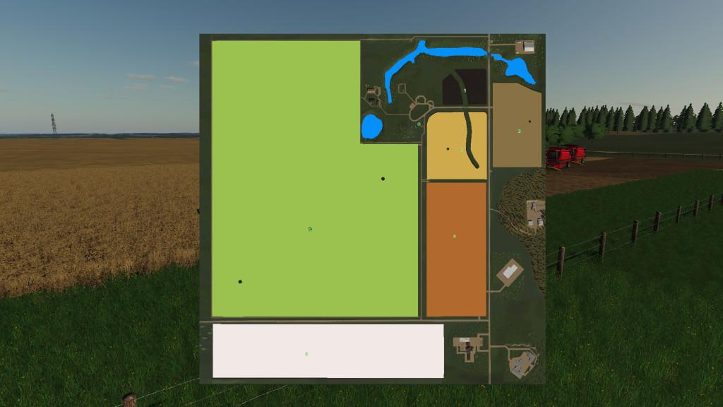 Мод карта Dahl Ranch v1.0.0.0 Farming Simulator 19