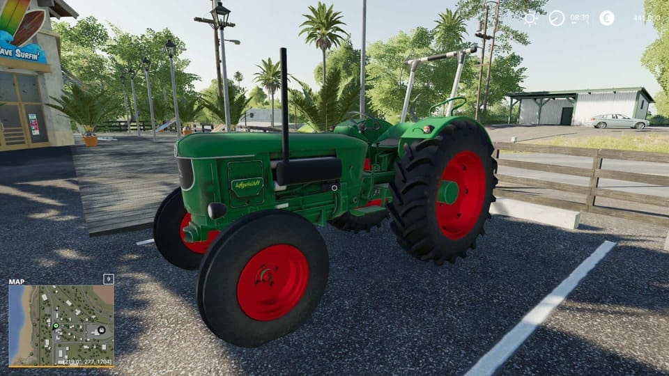 Мод трактор Deutz D80 v0.0.1 Alpha Farming Simulator 2019