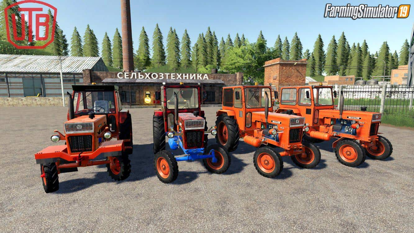 Мод ПАК Universal UTB Old Romanian Pack Tractors v1.0 FS19