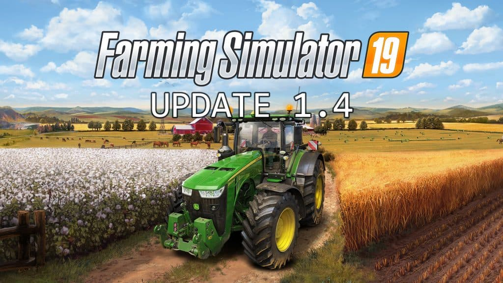Скачать патч UPDATE PATCH V1.4 Farming Simulator 19
