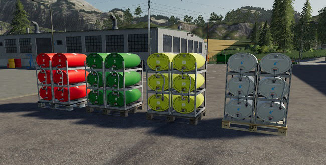 Мод Pallets With Barrels v1.0.0.0