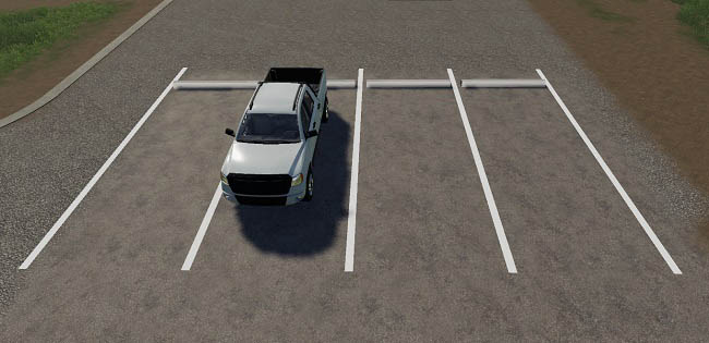Мод парковка Placeable parking spot modpack v1.0.0.0 FS19
