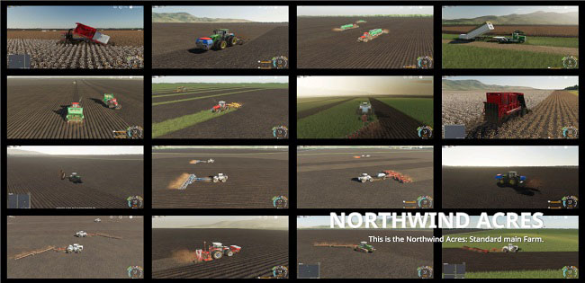Мод карта Northwind Acres v3.0.1.1 Farming Simulator 19