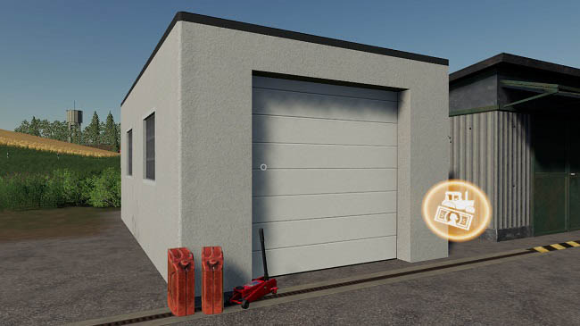 Мод гараж Garage With Workshop Trigger v1.2 FS2019