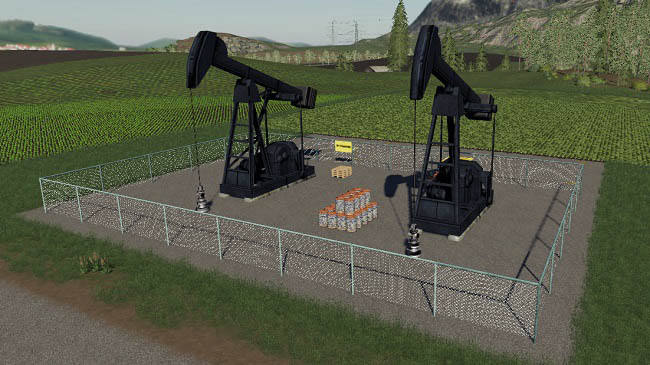 Мод ПАК Crude Oil Derrick Resinery v1.0 Farming Simulator 19