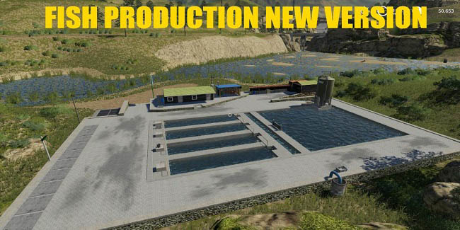 Мод Fish Production New Version v1.0.0 Farming Simulator 2019