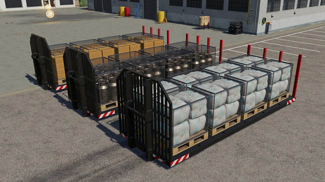 Мод ПАК Container Pallets v1.0.0.0 Farming Simulator 19